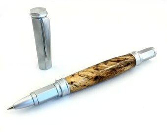 Spalted Mango Burl Wood Rollerball Pen With Magnetic Cap, Spalted Wood Pen,  Sleek Pen, Wooden Pen, Ink Pen, Mens Gift, Stylish Pen