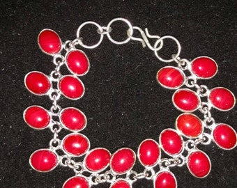 CLEARANCE*  Red Coral Bracelet