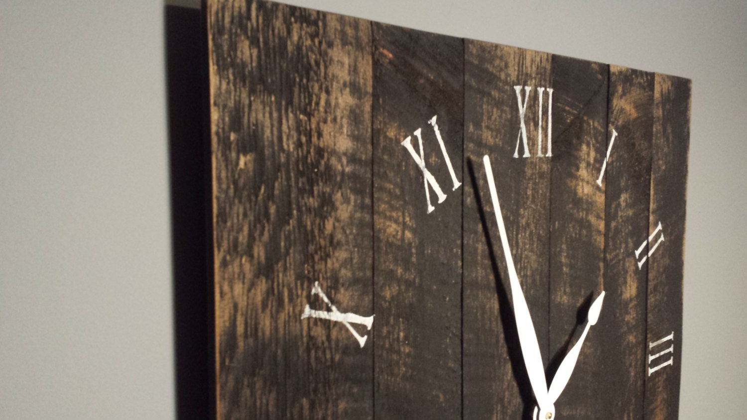 24 Large Rustic Wall Clock Made From Rough Cut Lumber