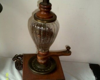 Vintage Coffee Grinder Lamp