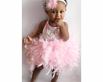 SWAN, Candy pink feather tutu, feather tutu, baby tutu, girls tutu, newborn tutu, newborn photo prop, birthday tutu, tutu,