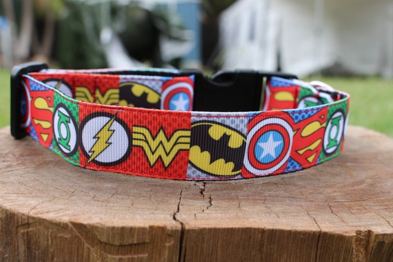 Marvel Dog Collar And Lead