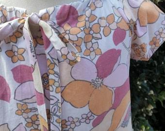 Girls size 4 Dress. Vintage Fabric. Unique.