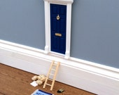 Fairy Door for boys  dollhouse door  Blue Door