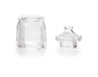 Miniature Jar and Lid - Acrylic - Clear - .75 x 1.125 inches