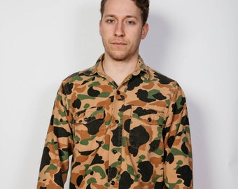 Camo Print Flannel Shirt - Military/Army Style