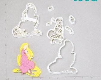 Rapunzel  Fondant Cutter    rapunzel necklace,rapunzel ears,rapunzel cosplay,rapunzel bow,