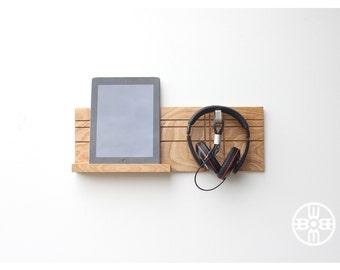 Wood headphone stand etsy - Wall mount headphone holder ...