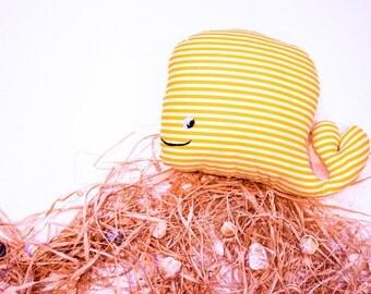 RYBKAVELE  Stuffed whale yellow toy