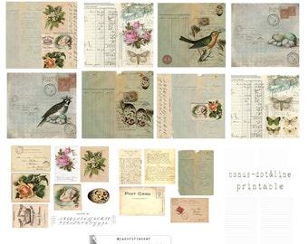 Covers, PERSONAL Vintage covers & bonus ephemera lines/dots.  LePetite foxydori size, pdf