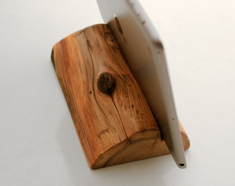 Wooden Log iPad Tablet Stand