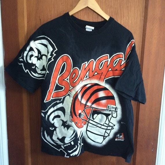Vintage cincinnati bengals t shirt by yungboivintage on etsy for Vintage bengals t shirts