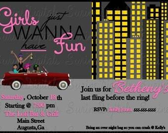 Bridal Shower Invitation, Bachelorette Party Invite, Girls Night out Invitation