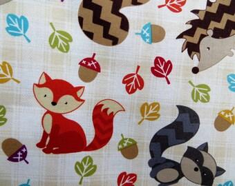 Woodland Animal Baby Blanket,Baby Blanket,Baby Boy Blanket,Fox Baby Blanket,Fox Minky Blanket,Baby Gift,Hedgehog Blanket,Raccoon Blanket