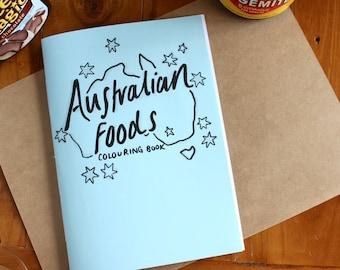 Australian Foods Colouring Book - Zine