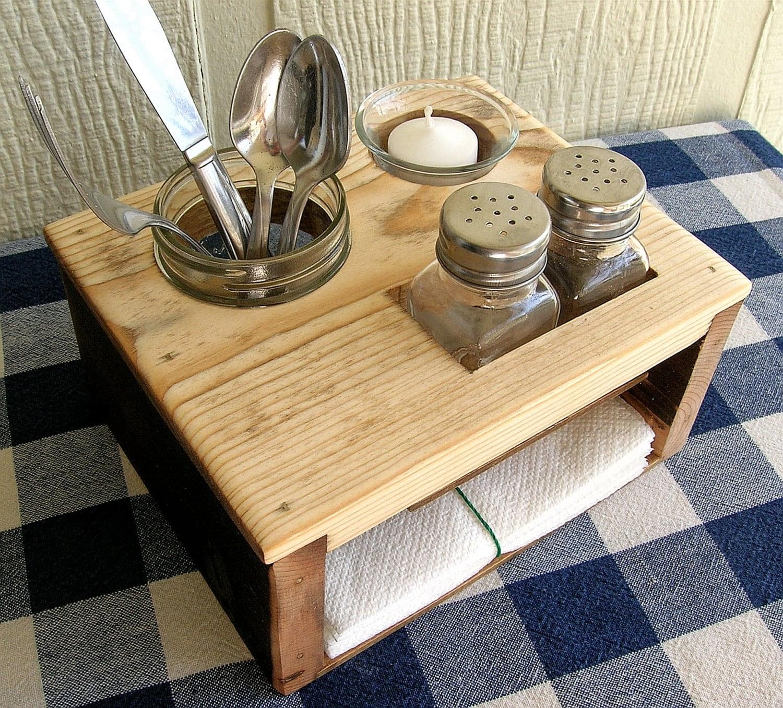 Kitchen Table Organizer Picnic Table Caddy by IrishDayFair