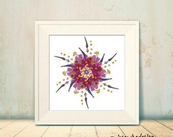 Pressed Flower Mandala No.1