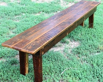Bench, Wood Bench, Rustic Bench, Reclaimed Wood Bench, Farmhouse Bench, Rustic Dining Bench, Rustic Wood Dining Bench