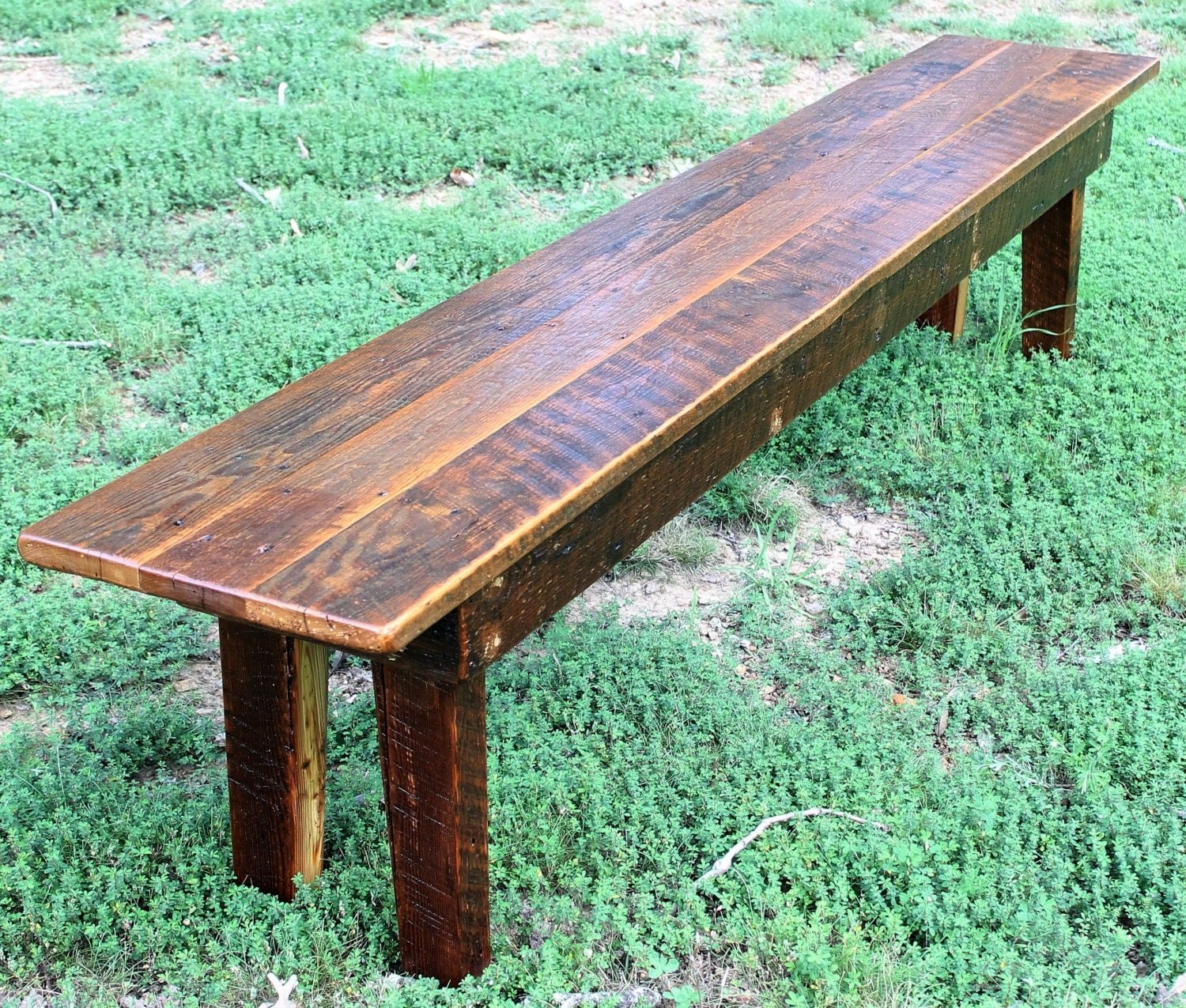 Bench wood rustic reclaimed