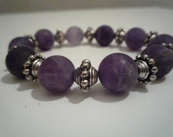 Bracelet Amethyst esmerillada