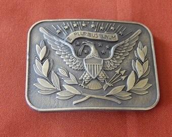 Vintage Brass Belt Buckle Eagle