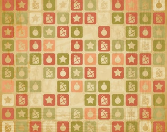 Christmas floral Backdrop - rustic floral wall - Printed Fabric Photography Background G1406