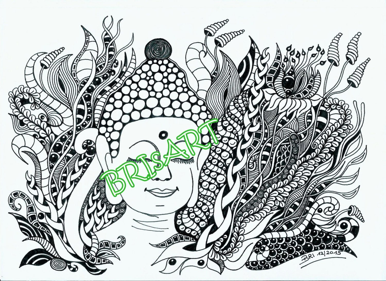 zentangles download coloring zenzia buddha made by