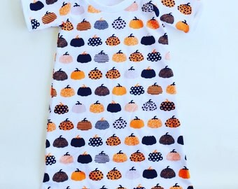 Pumpkin Girls high-low Day Dress