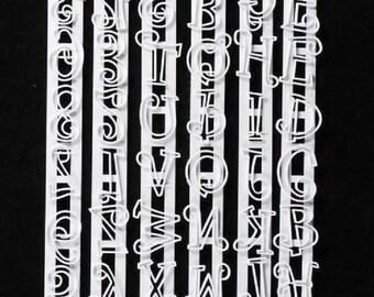 Alphabet Fondant Cutter - Funky Tappit - Upper Case Letters - Letters & Numbers Set - Gum Paste - DIY - CC0031