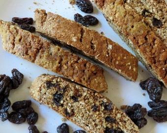 Whole Wheat-Cinnamon-Raisin-Walnut  Biscotti -1 Pound Cookies-Soft Baked-Italian Cookies