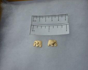Elephant Pierced Earrings Gold Tone Fashion Jewelry