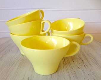 Vintage yellow cups