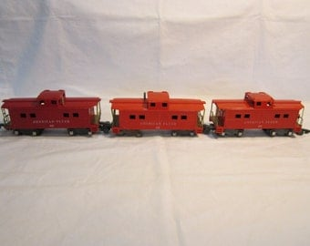 Lot of 3 American Flyer 638 Cabooses A.C Gilbert S Scale