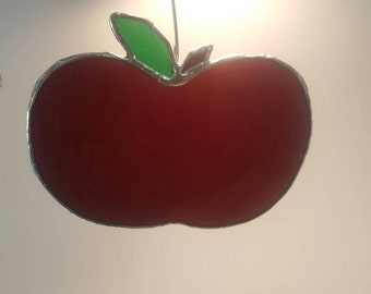 Custom Made Stained Glass Apple
