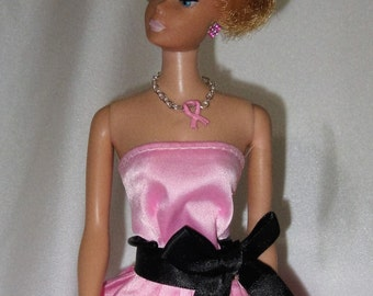 Barbie Supports Breast Cancer Awareness with her Pink Ribbon Necklace