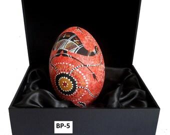 Aboriginal hand painted emu egg.