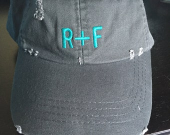 R + F Distressed Look Unstructured Hat