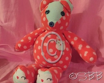 Keepsake Bear with available embroidered babys name/birthday