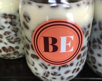 Hazel Nut Soy Coffee Candle Mason Jar