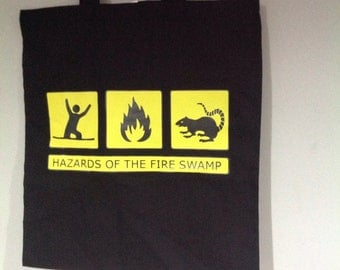 The Princess Bride - Hazards of the Fire Swamp tote bag.