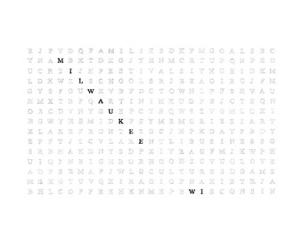 Milwaukee Word Search Poster