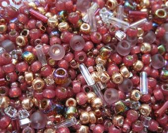 Toho seed bead mix Kokoro mauve gold 10 g