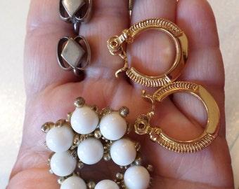 Lot of 4 Pairs of Vintage Earrings.