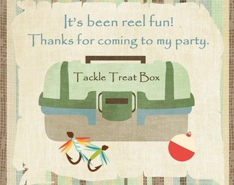CUSTOMIZED Fishing Party Favor Tags / Download / Digital File