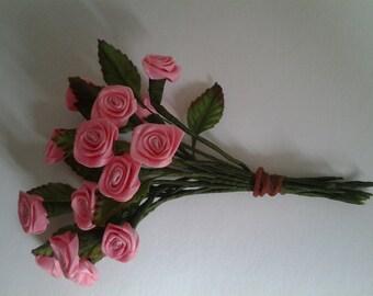 Pink Silk Roses