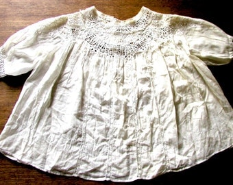 French antique lace child's blouse