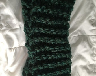 Jumbo Knit Infinity Scarf in Emerald