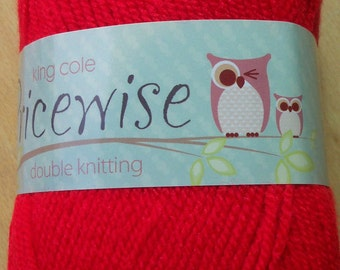 King Cole Pricewise Double Knitting Wool - Red