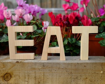 EAT Letters - Perfect for Kitchen or Dining room, Made from FSC Certified Solid Wood