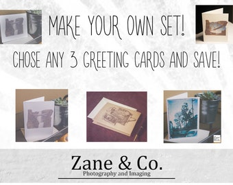 Pick 3, Choose any 3 Greeting Cards! Make your own set